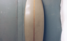 Black Foam/Cedar Stringer on a single Fin