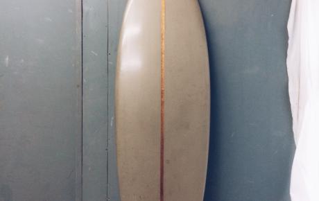 Black Foam/Cedar Stringer on a single Fin